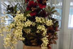 Large custom arrangement with orchids
