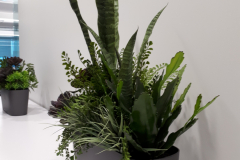 Artificial mixed succulent arrangement