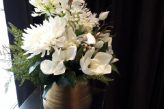 Artificial custom floral arrangement