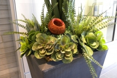 Large artificial mixed succulent arrangement