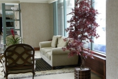 Artificial Japanese Maple tree in a Toronto condominium lobby