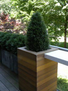 Artificial Plants Outdoors - Cedar cone and bushes